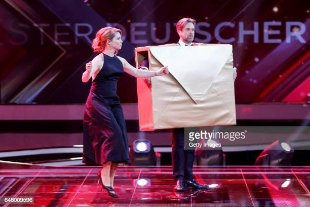 Annette Frier and Matthias Matschke during the Goldene Kamera show on March 4 2017 in Hamburg Germany