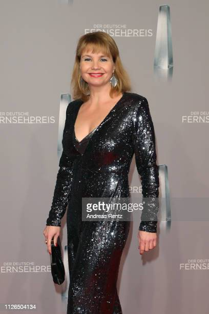 Annette Frier attends the German Television Award at Rheinterrasse on January 31, 2019 in Duesseldorf, Germany.