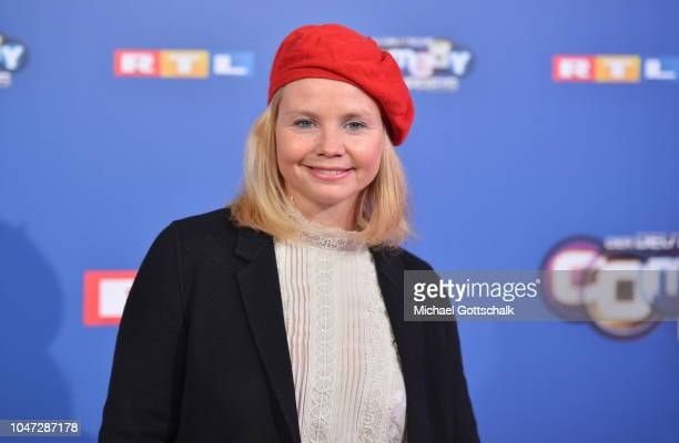 Annette Frier attends the red carpet at the 22nd Annual German Comedy Awards at Studio in Koeln Muehlheim on October 7, 2018 in Cologne, Germany.