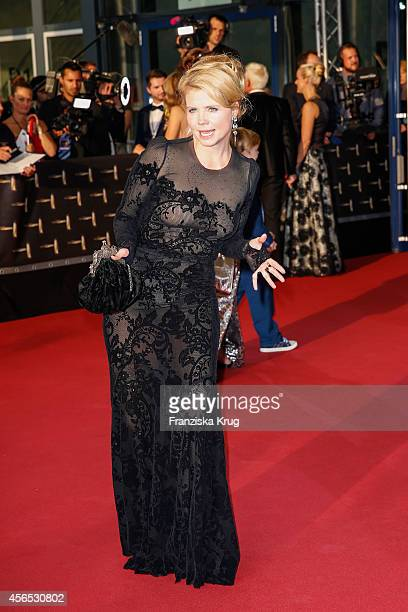 Annette Frier attends the red carpet of the Deutscher Fernsehpreis 2014 on October 02 2014 in Cologne Germany