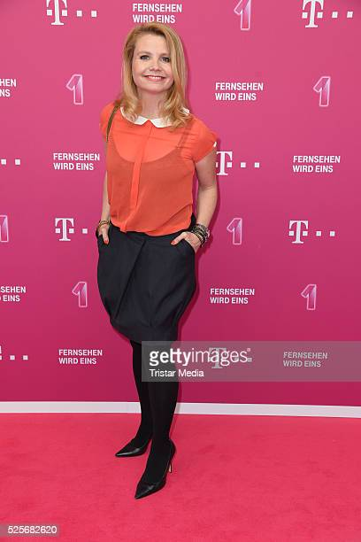 Annette Frier attends the Telekom Entertain TV Night at Hotel Zoo on April 28, 2016 in Berlin, Germany.