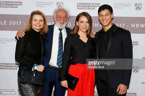 Annette Frier, Dieter Hallervorden, Lena Klenke and Emilio Sakraya attend the NRW Reception at the Landesvertretung during the 67th Berlinale...