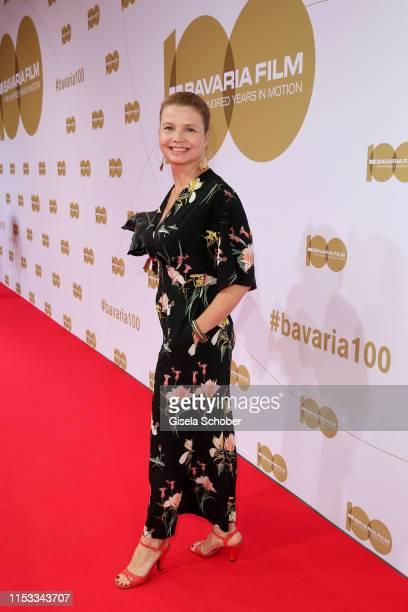"""Annette Frier during the Bavaria Film Reception """"One Hundred Years in Motion"""" on the occasion of the 100th anniversary of the Bavaria Film Studios..."""