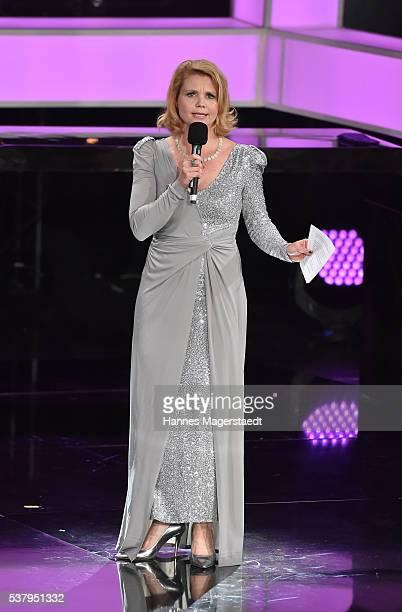 Annette Frier during the Bayerischer Fernsehpreis 2016 show at Prinzregententheater on June 3 2016 in Munich Germany