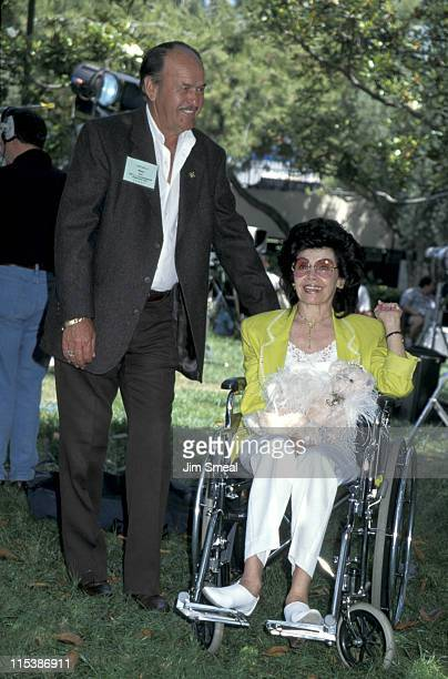 Annette Funicello and husband during Burbank Park Doll Fair at Burbank Park in Burbank California United States