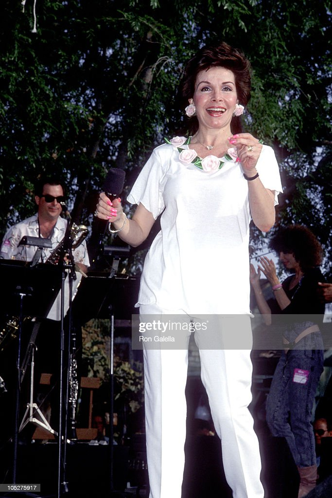 Annette Funicello during Frankie Avalon & Annette Funicello Concert Tour at Calico Square, Knott's Berry Farm in Buena Park, California, United States.
