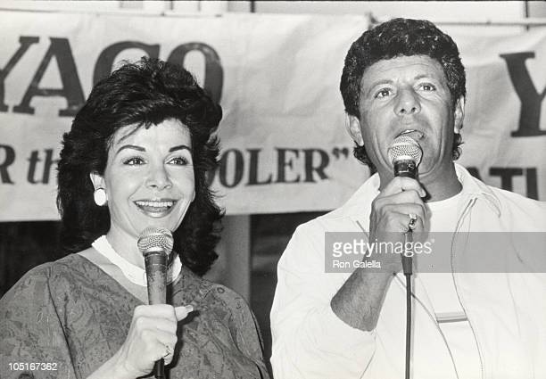 Annette Funicello Frankie Avalon during 1st Annual Yago Beach Party Promotion of 'Back To The Beach' at World Trade Center in New York City New York...