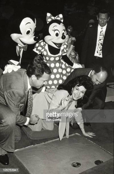 Annette Funicello husband Gary Michael Eisner during Disney Legends Awards at Walt Disney Studios in Burbank California United States