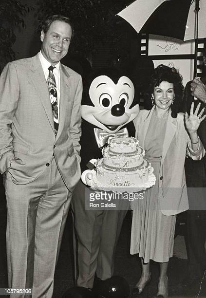 Annette Funicello Michael Eisner during Disney Legends Awards at Walt Disney Studios in Burbank California United States