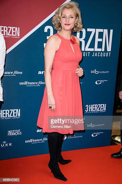 Annette Gerlach attends the German premiere of the film '3 Coeurs' during the 14th French Film Week at Kino International on December 4 2014 in...