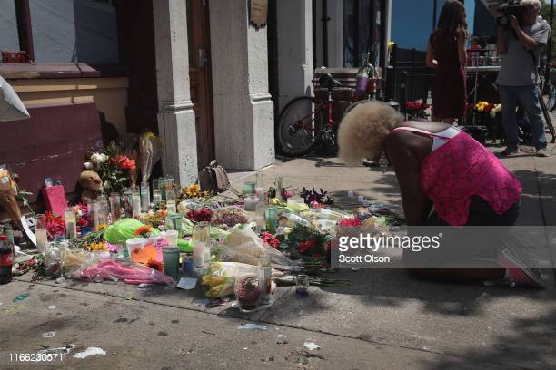 Annette GibsonStrong visits a memorial to those killed in yesterday's mass shooting in the Oregon District on August 05 2019 in Dayton Ohio Nine...