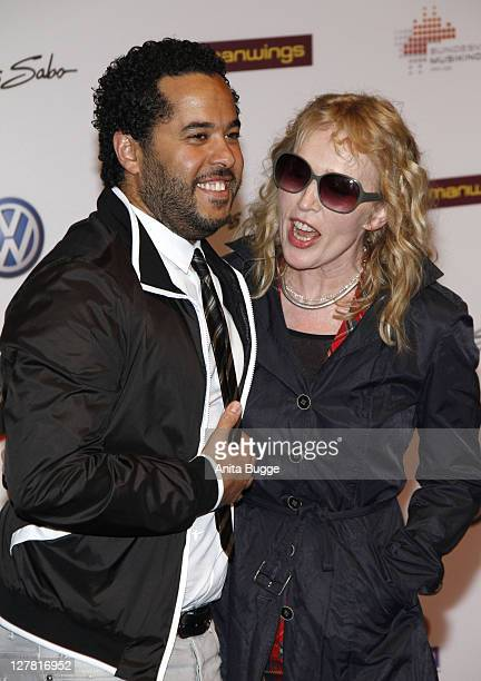 Annette Humpe and Adel Tawil arrive to the Echo Awards 2011 ceremony on March 24 2011 in Berlin Germany