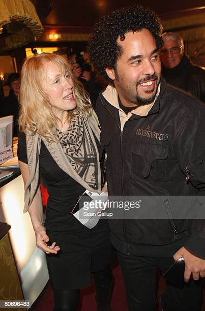 Annette Humpe and Adel Tawil of the musical duo Ich und Ich attend the performance of The Beatles revival band Rain The Beatles Experience at the...