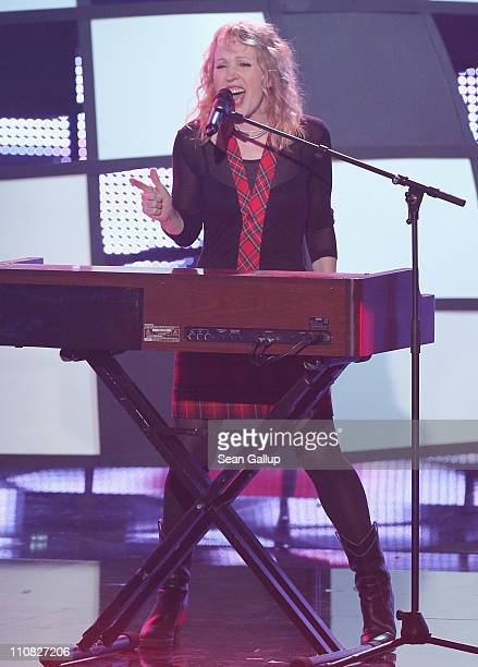 Annette Humpe performs at the Echo Awards 2011 at Palais am Funkturm on March 24 2011 in Berlin Germany