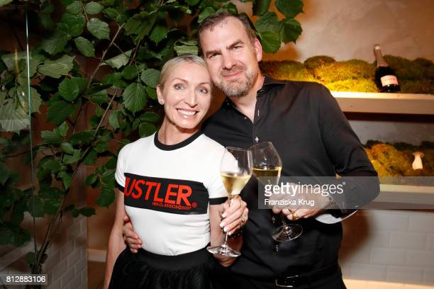 Annette Jensen and her husband Ulrik Lackschewitz attend the 'Krug Kiosk' Event on July 11 2017 in Hamburg Germany