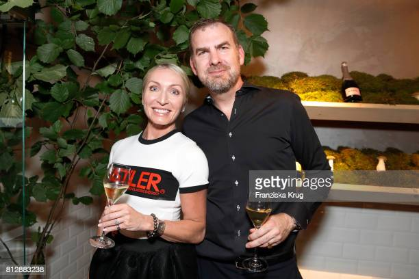 Annette Jensen and her husband Ulrik Lackschewitz attend the 'Krug Kiosk' Event on July 11, 2017 in Hamburg, Germany.