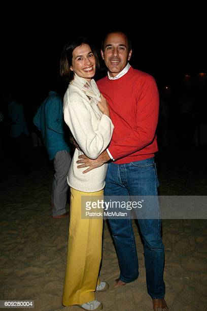 Annette Lauer and Matt Lauer attend LINDA WELLS and CHARLIE THOMPSON's Annual Clambake at Old Town Beach on July 21 2007 in Southampton NY
