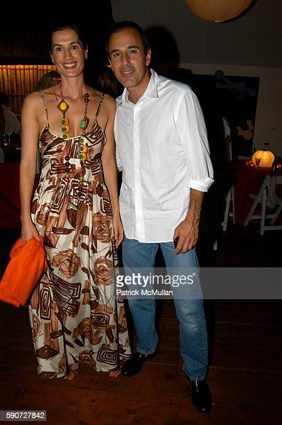 Annette Lauer and Matt Lauer attend Linda Wells Hosts a Clambake Dinner at 60 Mill Stone Road on July 16 2005 in Bridgehampton NY
