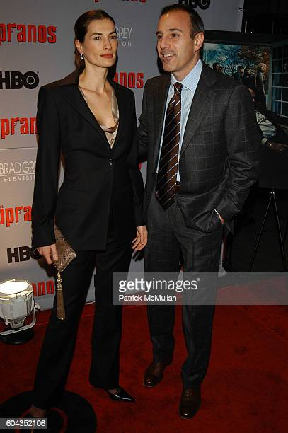 Annette Lauer and Matt Lauer attend Sopranos Inside Arrivals at MOMA NYC USA on March 7 2006