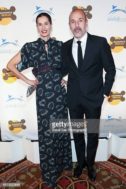 Annette Lauer and Matt Lauer attend the 2013 Animal League America Celebrity gala at The Waldorf Astoria on November 22 2013 in New York City