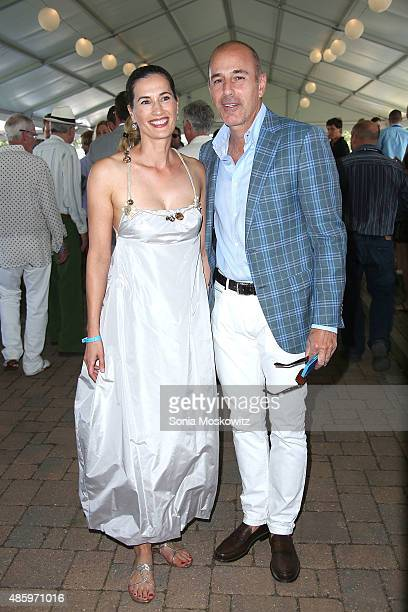 Annette Lauer and Matt Lauer attend the 2015 Hamptons Classic Grand Prix on August 30 2015 in Bridgehampton New York