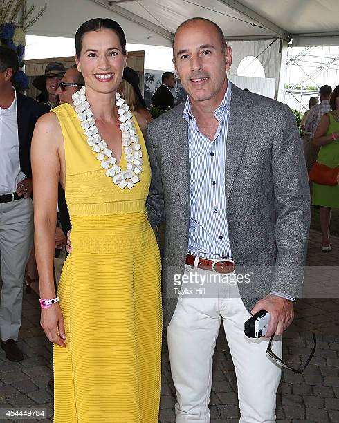 Annette Lauer and Matt Lauer attend the 39th Annual Hampton Classic Horse Show on August 31 2014 in Bridgehampton New York