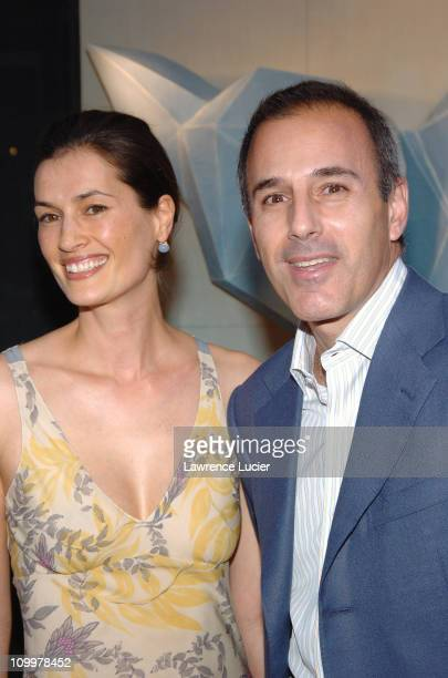 Annette Lauer and Matt Lauer during Lotsa de Casha by Madonna Book Launch Party at Bergdorf Goodman in New York June 7 2005 Arrivals at...
