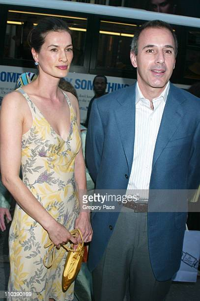 Annette Lauer and Matt Lauer during Lotsa de Casha by Madonna Book Launch Party at Bergdorf Goodman in New York June 7 2005 at Bergdorf Goodman in...