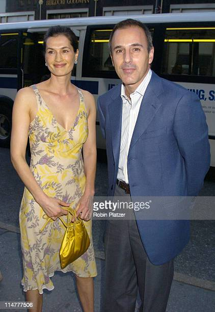 Annette Lauer and Matt Lauer during Lotsa de Casha by Madonna Book Launch Party at BergdorfGoodman in New York June 7 2005 Outside Arrivals at...
