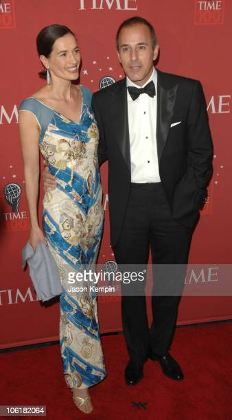 Annette Lauer and Matt Lauer during Time Magazine's 100 Most Influential People 2007 Red Carpet Arrivals at Jazz at Lincoln Center in New York City...