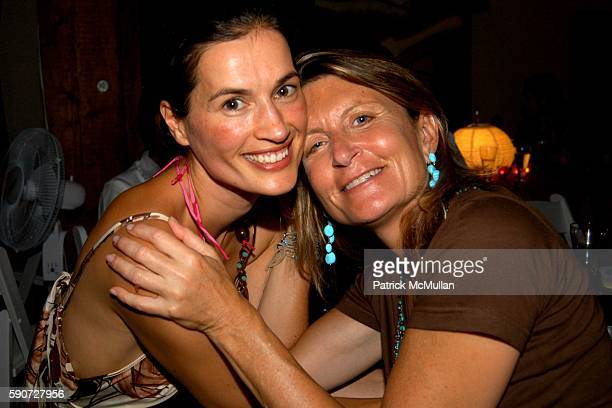 Annette Lauer and Sandy Golinkin attend Linda Wells Hosts a Clambake Dinner at 60 Mill Stone Road on July 16 2005 in Bridgehampton NY