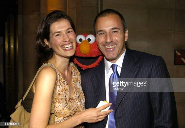 Annette Lauer Elmo and Matt Lauer during Diane Sawyer and Elmo Host Sesame Workshop's 2nd Annual Benefit Gala at Cipriani in New York City New York...