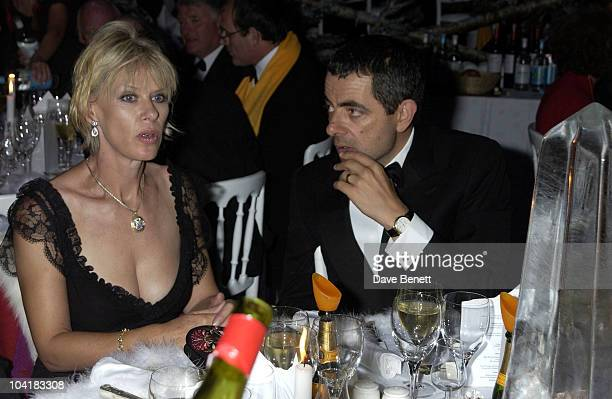 Annette Mason And Rowan Atkinson, The Goodwood Revival 2002 At Lord March Glorious Race Track In West Sussex ,saw Some Fun And Games When The Racers...