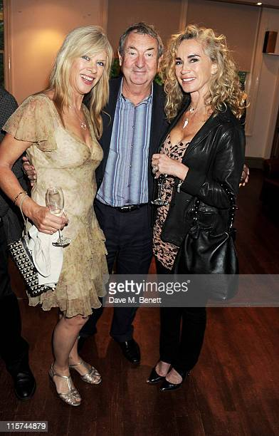 Annette Mason Nick Mason and Angie Rutherford attend a launch party for Penny Smith's new book 'Summer Holiday' at Century on June 9 2011 in London...