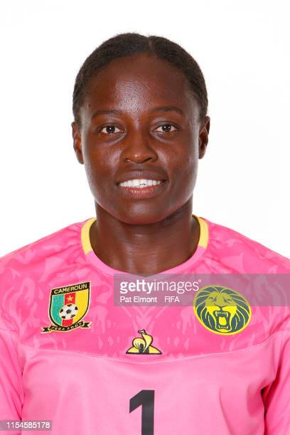 Annette Ngo Ndom of Cameroon poses for a portrait during the official FIFA Women's World Cup 2019 portrait session at Crowne Plaza Montpellier Corum...