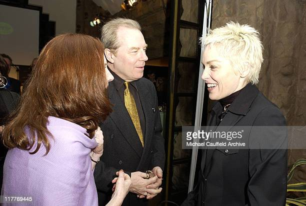 Annette O'Toole, Michael McKean and Sharon Stone during Global Vision for Peace and The United Nations Launch Artists for The United Nations at Lloyd...