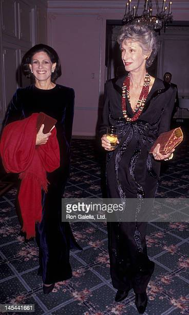 Annette Reed and Marella Agnelli attend Top Dog Benefit Gala for Animal Medical Center on November 13 1991 at the Pierre Hotel in New York City