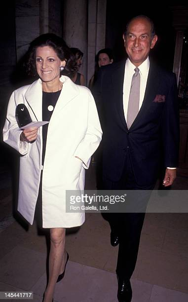 Annette Reed and Oscar de la Renta attend 25th Anniversary for New York Public Library Performing Arts on May 23 1991 at the New York Public Library...