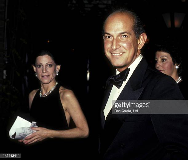 Annette Reed and Oscar de la Renta attend the screening party for Doonesbury on November 8 1983 at Tavern on the Green in New York City
