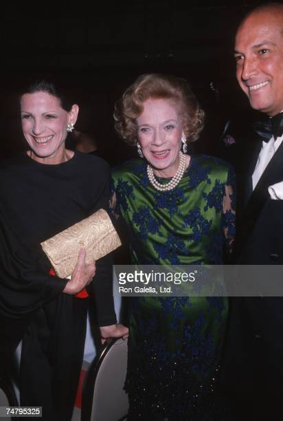 Annette Reed Brooke Astor and Oscar de la Renta at the Waldorf Astoria in New York City New York