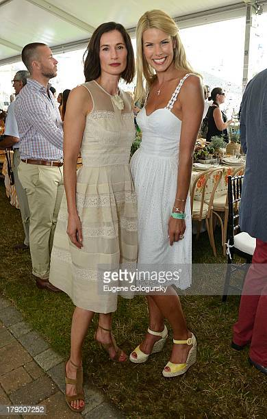 Annette Roque and Beth Stern attend the Hamptons Magazine Celebration of Grand Prix Sunday At Hampton Classic on September 1 2013 in Bridgehampton...