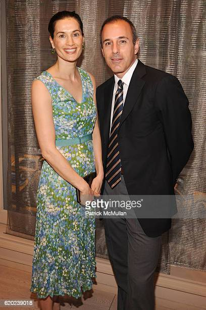 Annette Roque and Matt Lauer attend ROGER VIVIER Cocktail Party Benefiting CENTRAL PARK CONSERVANCY at Roger Vivier on April 23 2008 in New York City