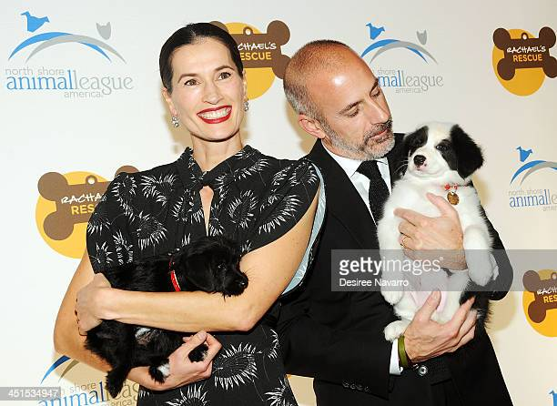 Annette Roque and Matt Lauer attend the 2013 Animal League America Celebrity gala at The Waldorf=Astoria on November 22 2013 in New York City