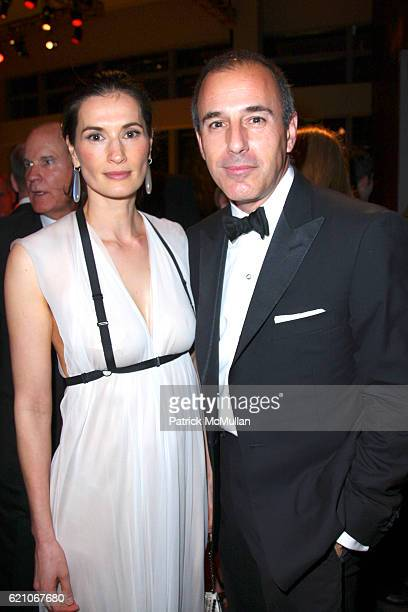 Annette Roque and Matt Lauer attend TIME MAGAZINE'S 100 MOST INFLUENTIAL PEOPLE IN THE WORLD at Jazz @ Lincoln Center on May 8 2008 in New York City