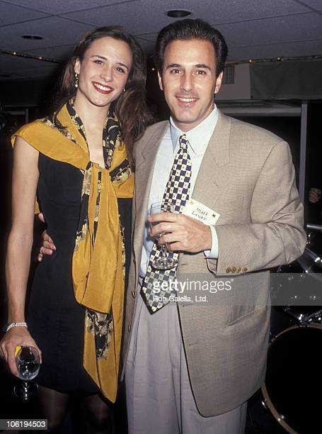 Annette Roque and Matt Lauer during Anchors Aweigh Benefit for Muscular Dystrophy Association at Aboard Spirit of New York in New York City New York...