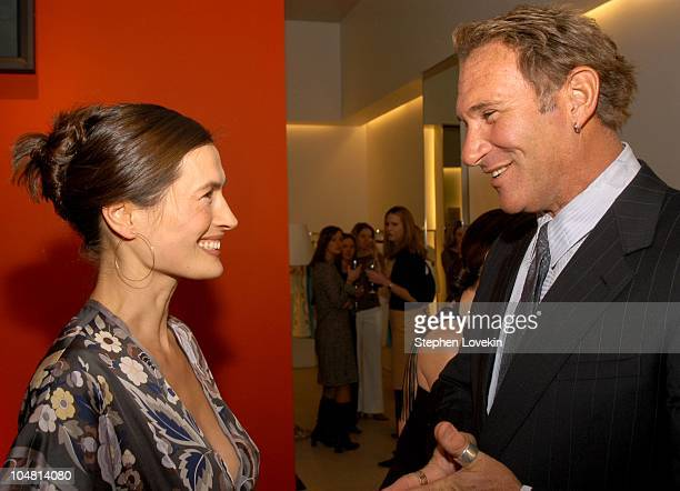 Annette Roque Lauer and Hal Rubenstein during Escada and InStyle host benefit for the US fund for UNICEF at Escada store in New York City United...
