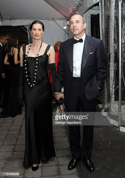 Annette Roque Lauer and Matt Lauer at the American Ballet Theatre's Opening Night Spring Gala on May 19 2008 at the Metropolitan Opera House in New...