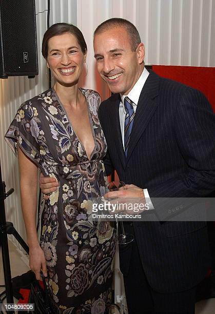 Annette Roque Lauer and Matt Lauer during Escada and InStyle Host Benefit for the US Fund for UNICEF at ESCADA Fifth Avenue in New York City New York...