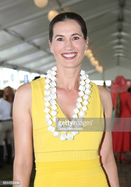 Annette Roque Lauer attends the 39th Annual Hampton Classic Horse Show Grand Prix on August 31 2014 in Bridgehampton New York