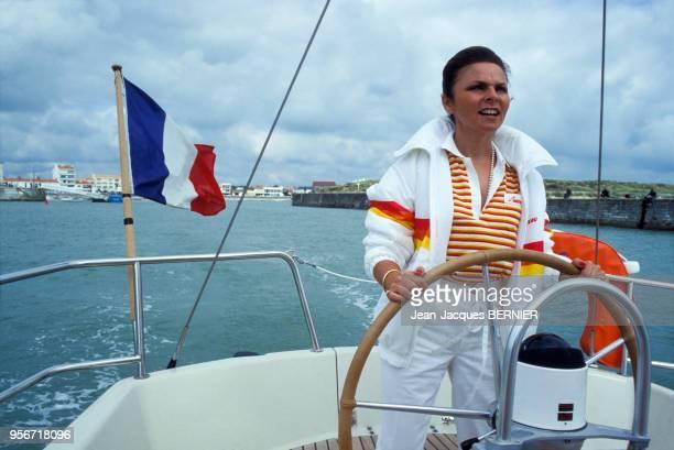 Annette Roux directrice des chantiers Bénéteau la 7 septembre 1983 à SaintGillesCroixdeVie France